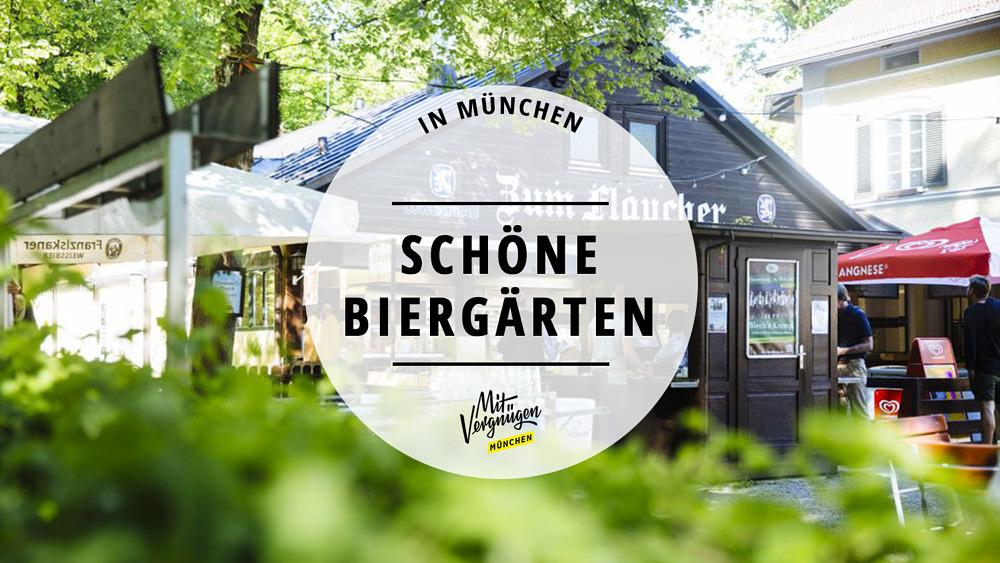 Schöne Biergärten in München