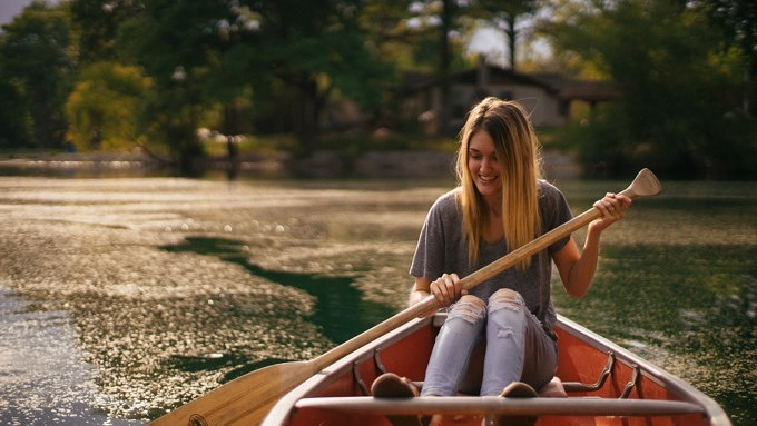 Boot fahren Tretboot See
