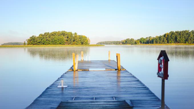 See Steg Ufer Sommer