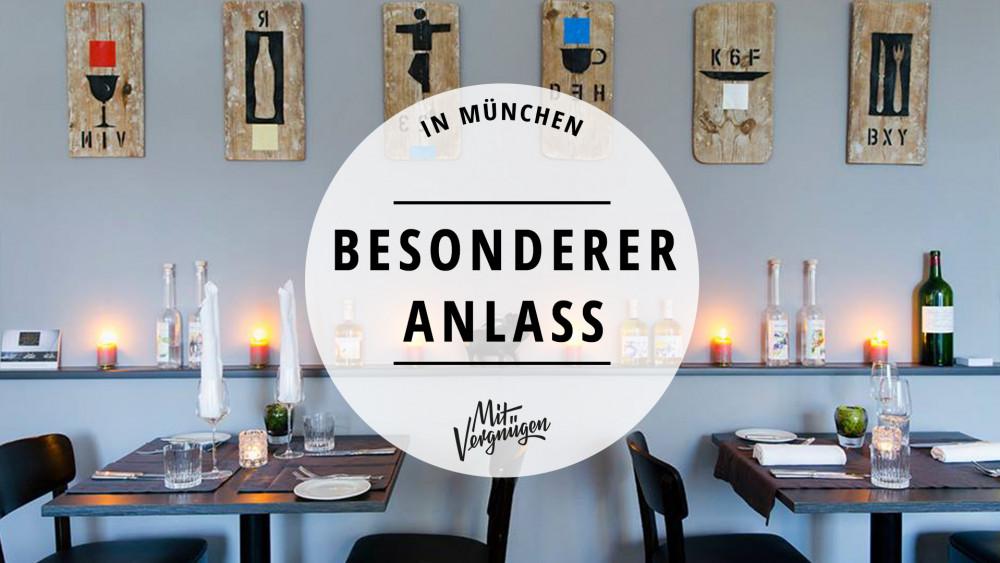 11 Restaurants in München für besondere Anlässe