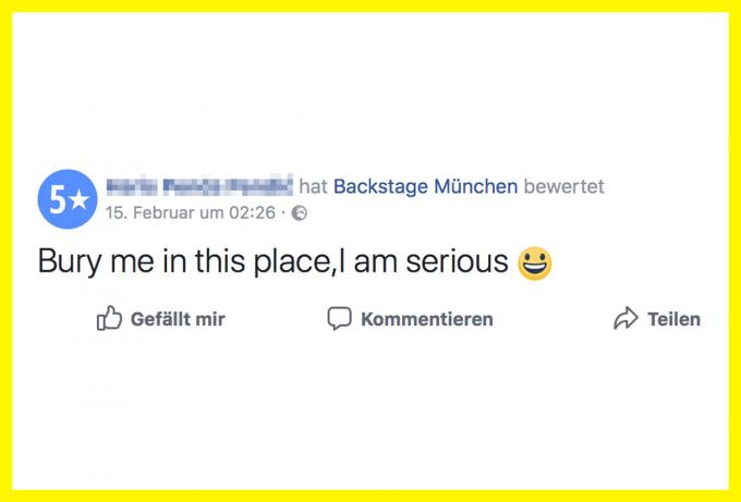 Backstage München Bewertung