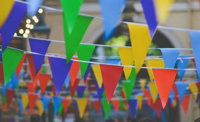 Wimpel Straßenfest