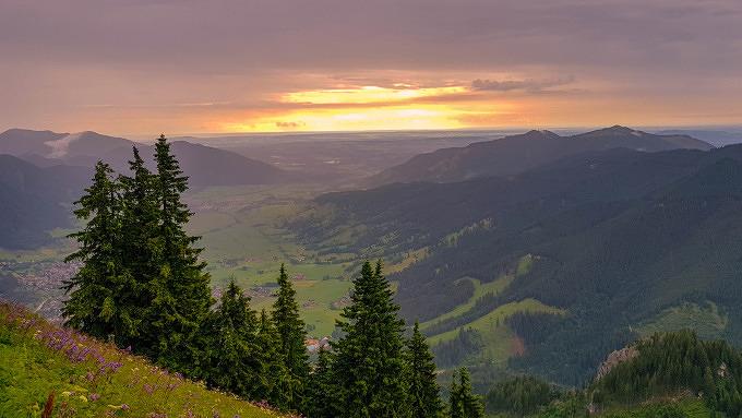 Ammergau Laber Sonnenuntergang