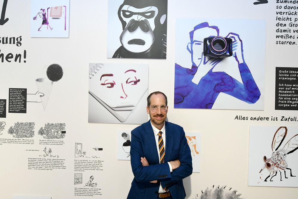 """""""Im Auge des Betrachters"""": Die Christoph Niemann-Ausstellung im Literaturhaus"""