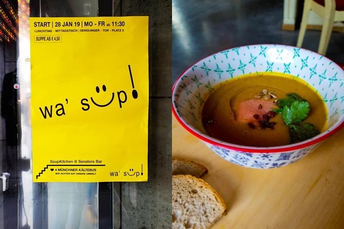 Suppen in der Senatore Bar: Das Pop-up Wa'sup am Sendlinger Tor