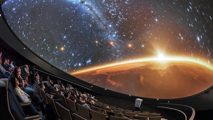 Das Planetarium der ESO Supernova.