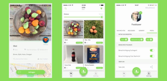UXA ist eine App zum Essen teilen