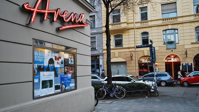 Arena Schriftzug Filmtheater Kino