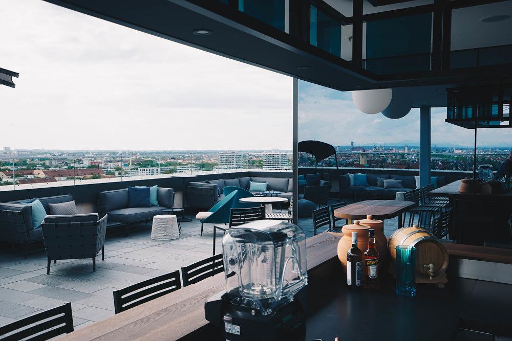 Dachterrasse M'Uniqo Andaz Hotel