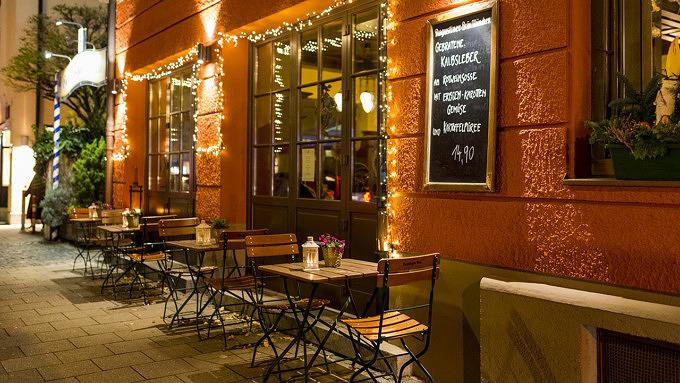 Görreshof Maxvorstadt Terrasse draußen sitzen