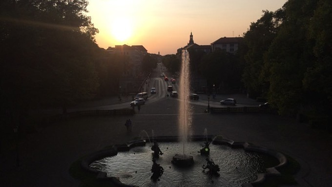 Friedensengel Sonnenuntergang