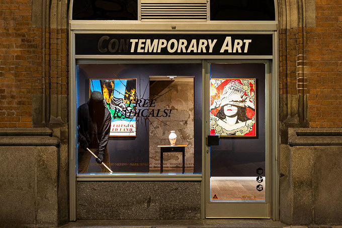 free radical temporary art