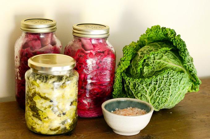 Fermentieren Sauerkraut