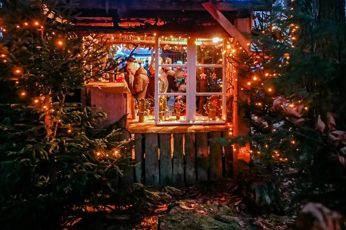 Weihnachtsmarkt Halsbacher Waldbühne Münchner Umland