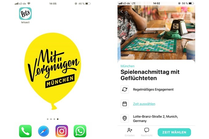 Letsact App Ehrenamt