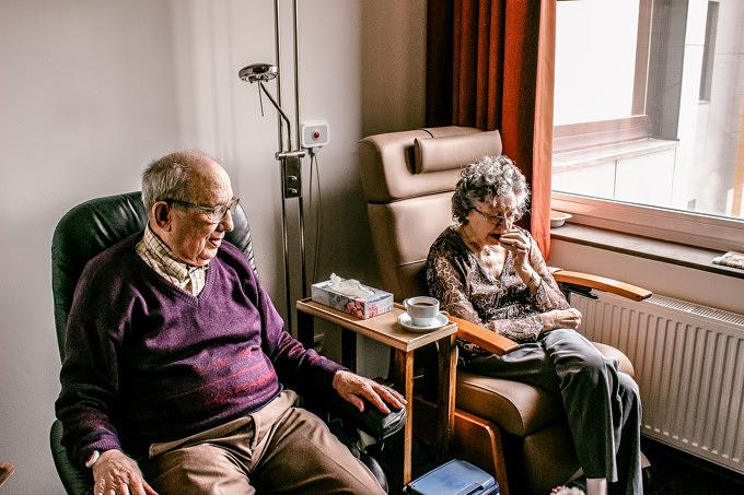 Alte Menschen Großeltern Altenheim Seniorenheim