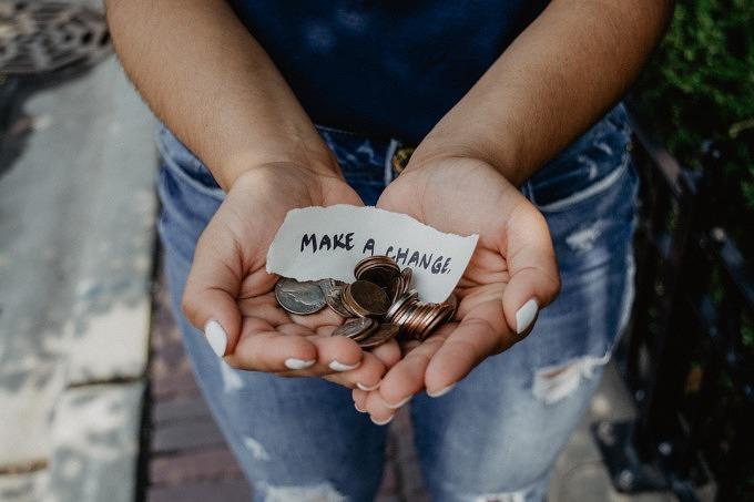 Geld spenden Spende