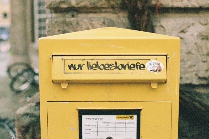 Briefe Liebesbriefe Postkasten Briefkasten