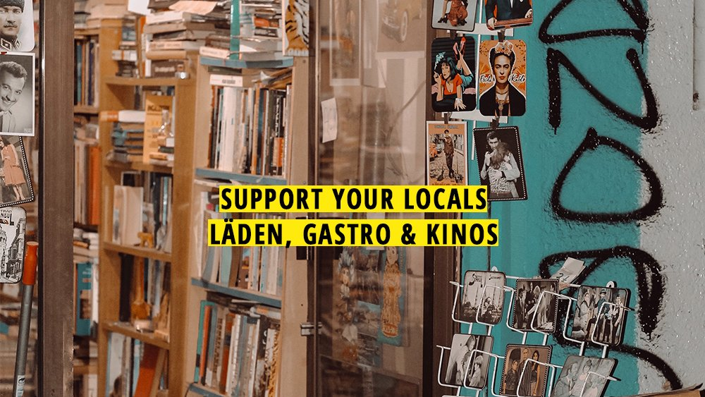 Laden Postkarten Bücher Lokal Locals