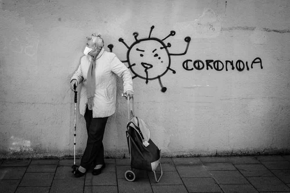 Münchner Tafel Corona Fotoreihe