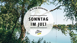 Olchinger See Sonntag im Juli