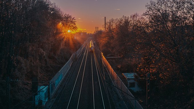 Schmederersteg Sonnenuntergang