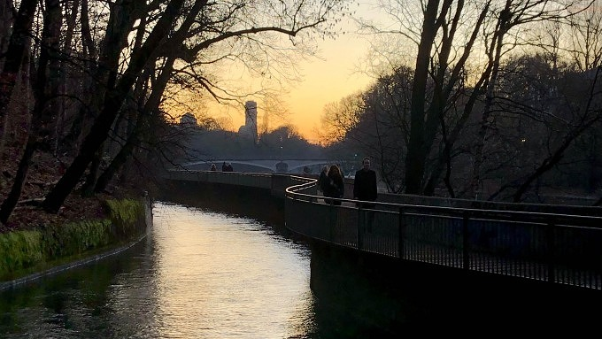 Mauersteg Isar Brücke