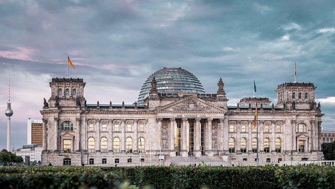 Bundestagsgebäude in Berlin.
